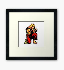 Ken from street fighter sprite  Framed Print