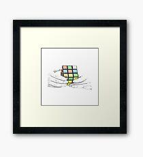 Rubix Cube Framed Print