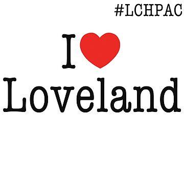 I heart Loveland #LCHPAC White t-shirt by haliehovenga