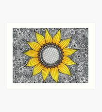 Sonnenblume-Muster Kunstdruck