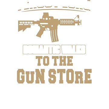 I Enjoy Long Romantic Walks To The Gun Store T Shirt by minnesotabobs