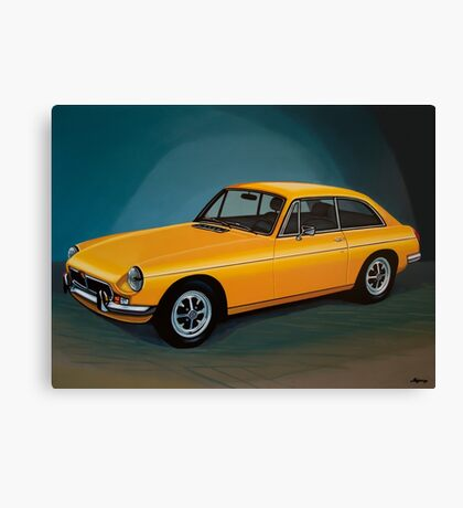 MGB GT Painting Canvas Print