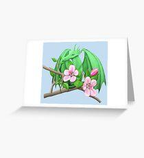 Spring Apple Tree Dragon Greeting Card