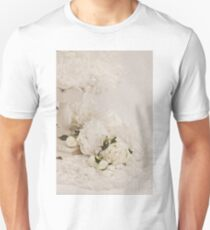 Peonies In White  Unisex T-Shirt