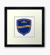 Blue and Bronze Badge 8 Framed Print