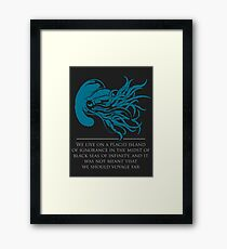 Call of Cthulu - HP Lovecraft Framed Print