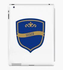 Blue and Bronze Badge 8 iPad Case/Skin