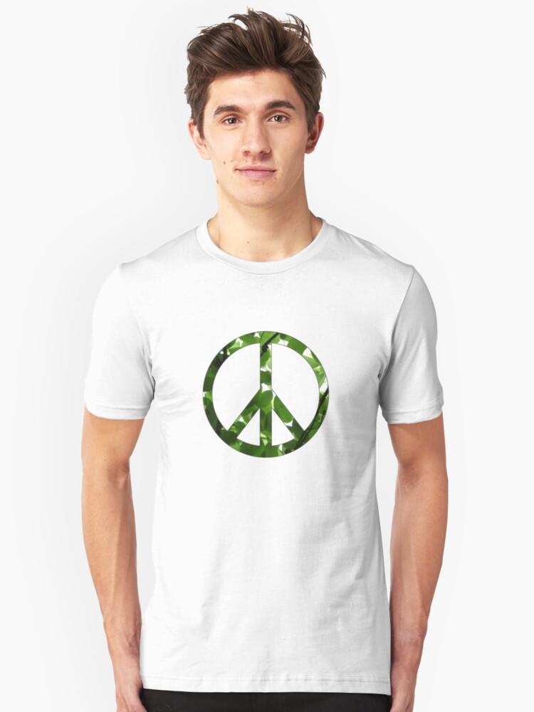Green Peace Unisex T-Shirt Front