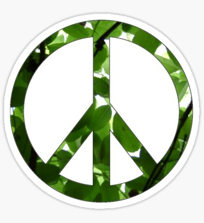 Green Peace Sticker
