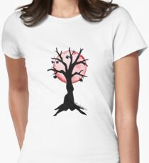 Season Trees: Fall Womens Fitted T-Shirt