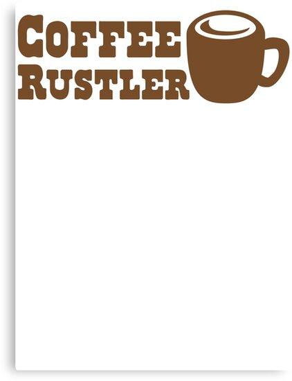 Coffee Rustler with cute mug coffee bean by jazzydevil