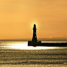 Light in the Darkness - Roker Pier Sunderland by Morag Bates