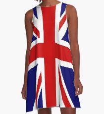 Union Jack Punk COSPLAY A-Linien Kleid