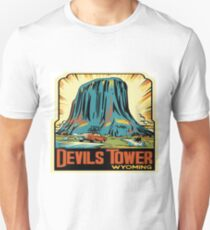 Devil's Tower National Monument Vintage Decal - Wyoming Unisex T-Shirt