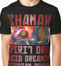 Shaman Spirit Drum Siberian Trance Graphic T-Shirt