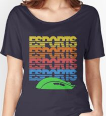Cascading Vintage Esports Pattern for Gamers Women's Relaxed Fit T-Shirt