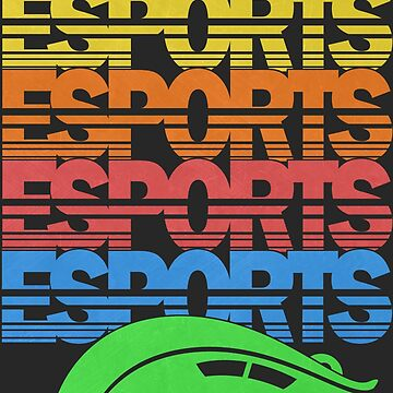 Cascading Vintage Esports Pattern for Gamers by BeasleyBytes