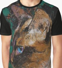Siamese Portrait Graphic T-Shirt