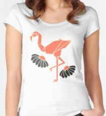 Flamingo Women's Fitted Scoop T-Shirt