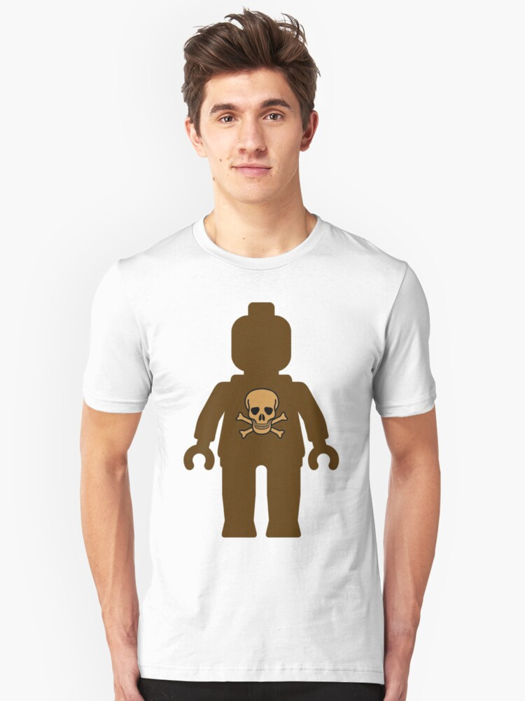 Minifig with Skull Design  Unisex T-Shirt Front