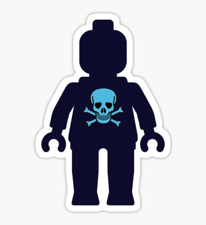 Minifig with Skull Design  Sticker