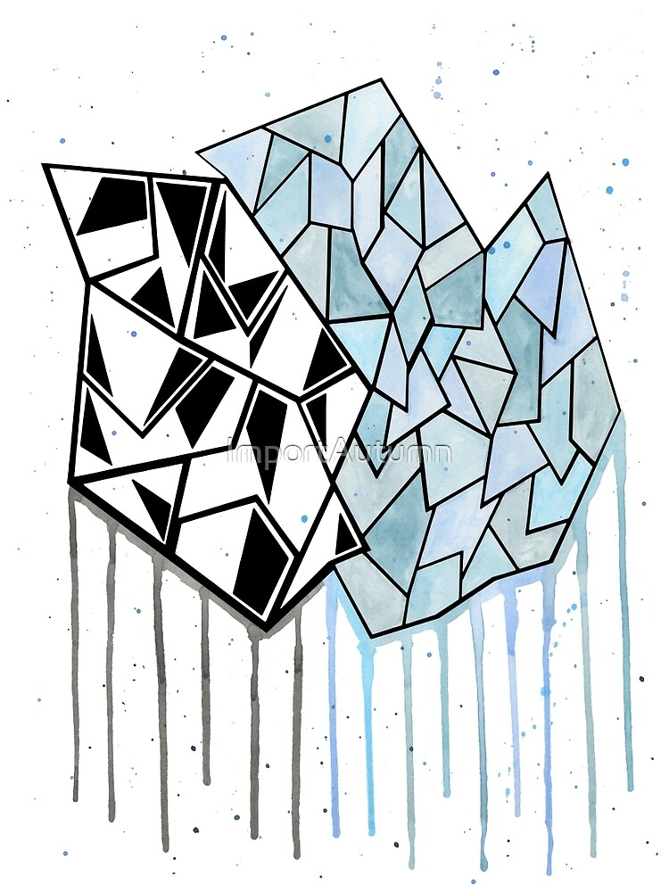 Abstract Watercolor Geometry  by ImportAutumn