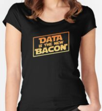 Data Is The New Bacon Women's Fitted Scoop T-Shirt