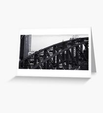 Gritty City 1 - Harbour Bridge Climbers Greeting Card