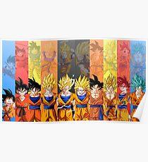 Evolution Of Goku Poster