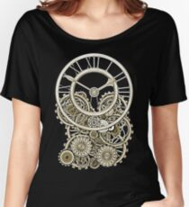 Stylish Vintage Steampunk Timepiece Vintage Style Steampunk T-Shirts Women's Relaxed Fit T-Shirt
