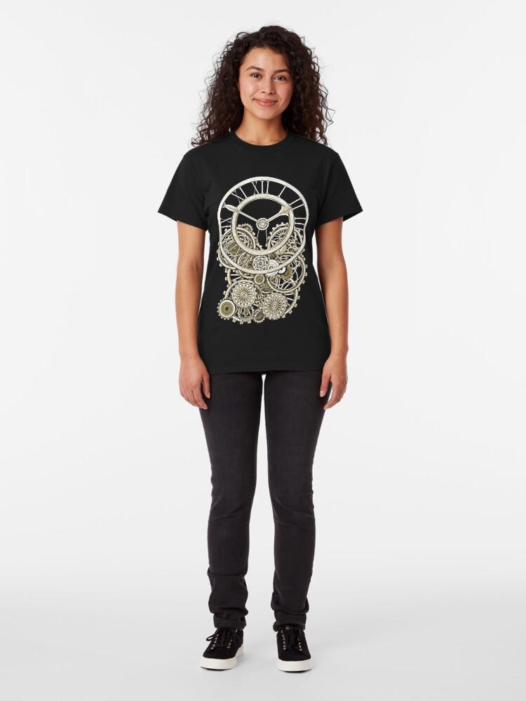 Alternate view of Stylish Vintage Steampunk Timepiece Vintage Style Steampunk T-Shirts Classic T-Shirt