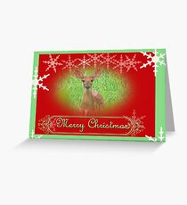 deery christmas Greeting Card