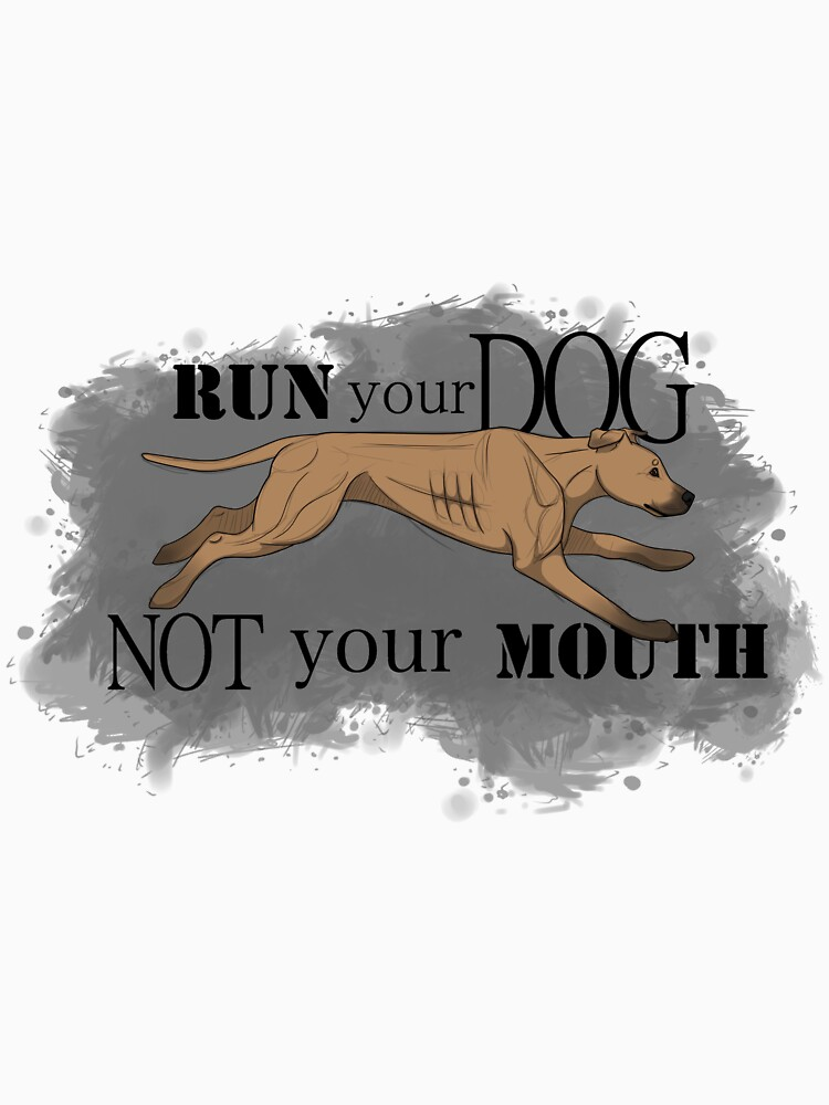 Run Your Dog Not Your Mouth American Pit Bull Terrier Fawn by maretjohnson