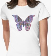 Butterfly 5 - Abstract Colours Womens Fitted T-Shirt