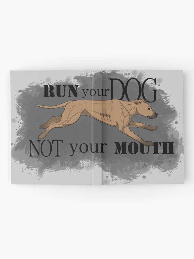 Alternate view of Run Your Dog Not Your Mouth American Pit Bull Terrier Fawn Hardcover Journal