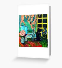 Still LIfe After Matisse Greeting Card
