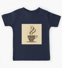 Coffee Cup Made From Coffee Icons Kids Tee