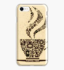 Coffee Cup Made From Coffee Icons iPhone Case/Skin