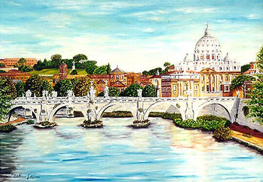 ROMA-San Pietro visto da Ponte Umberto 16-2000 by pbellucci