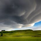 Clouds over the Fields by Linda Cutche
