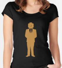 Minifig Business Man Women's Fitted Scoop T-Shirt
