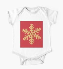 Knitted Yellow Snowflake One Piece - Short Sleeve