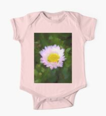 Pink Daisy in Green Grass One Piece - Short Sleeve