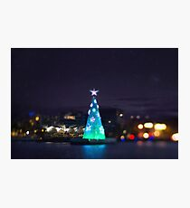 Geelong Floating Christmas Tree Photographic Print