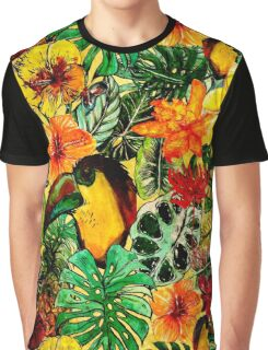 Tropical Vintage Exotic Jungle Flower Flowers - Floral Pattern Graphic T-Shirt
