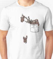 Pocket Sloth Family Slim Fit T-Shirt