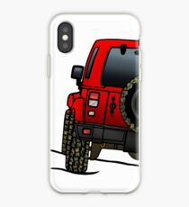 Jeep Wrangler JK [Rouge] Coque et skin iPhone