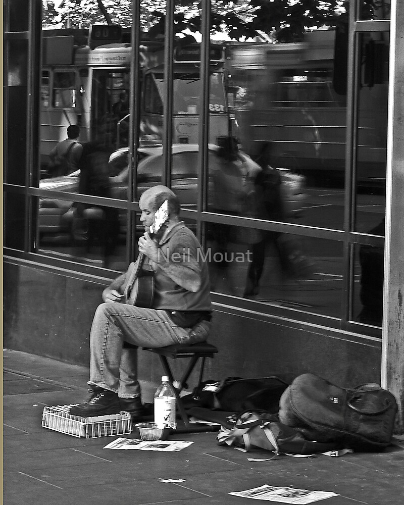 reflections with a blind basker  by Neil Mouat