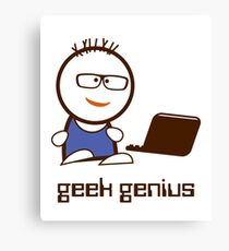 Geek genius Canvas Print