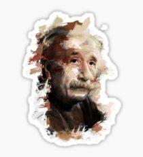 Paint-Stroked Portrait of Scientist and Physicist, Albert Einstein Sticker
